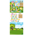 game template with green grass background vector image vector image