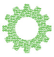 gear wheel mosaic of key icons vector image vector image
