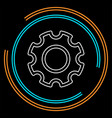 gears settings icon - cogwheel gear mechanism vector image