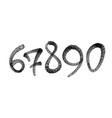 graffiti spray font alphabet digits for spider vector image vector image