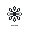 graphene isolated icon simple element from vector image vector image