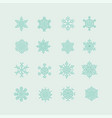 green snowflakes icon on light green background vector image