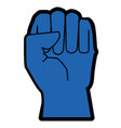 hand clenched symbol vector image vector image