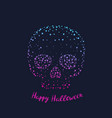 happy halloween poster card with skull vector image vector image