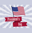 happy presidents day retro banner with american vector image vector image