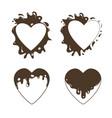 heart-set-chocolate vector image vector image