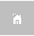 house fire computer symbol vector image