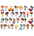 large set isolated objects many kids vector image vector image