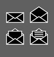 letter envelope symbols icons simple black set 2 vector image vector image