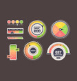 level indicator power measurement counters vector image vector image