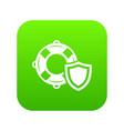 lifeguard protection icon green vector image