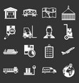 logistic icons set grey vector image vector image