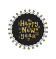 merry christmas new year calligraphy golden vector image