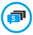 Money Messages Rounded Icon vector image