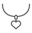 necklace with heart line icon jewelry and vector image vector image