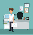 nurse at doctor office vector image vector image