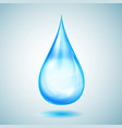 one big light blue drop vector image vector image