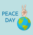 peace day concept september 21 international day vector image vector image