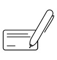 pen and blank black color icon vector image