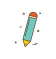 pencil icon design icon vector image vector image