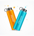 realistic detailed 3d color fitness bottle vector image