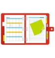 red notebook organizer vector image