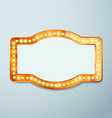 Retro bulb circus cinema light sign template vector image vector image