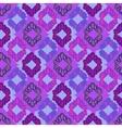 Seamless deep violet lattice pattern vector image