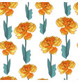 seamless pattern a yellow tulip flowers vector image