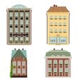 set 4 houses isolated on white vector image