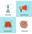 set Flat business concept vector image vector image