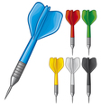 set of darts vector image vector image