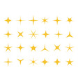 shiny stars sparkle light bright star and vector image vector image