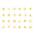 shiny stars sparkle light bright star vector image vector image