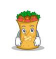 silent kebab wrap character cartoon vector image vector image