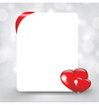 Silver Card With Hearts vector image