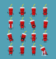soft drink character emoji set vector image vector image