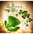 St Patrick holiday background vector image vector image