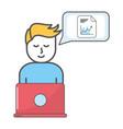 technology man cartoon vector image