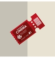 Ticket icon design vector image vector image