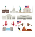 united states america usa objects vector image