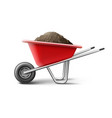 vecror red wheelbarrow vector image vector image