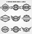 Vintage Brand Badge Labels vector image vector image