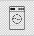 washer flat icon laundress sign symbol flat on vector image vector image