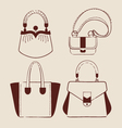 woman bags vector image vector image