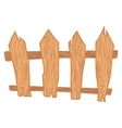 Wooden cartoon fence vector image vector image