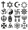 world religions symbols set of icons eps10 vector image vector image