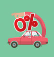zero percent car loan vector image vector image