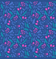 vibrant colors seamless pattern with flowers vector image