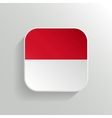 Button - Indonesia Flag Icon vector image